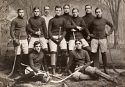 Hockey Sweater Framed Prints - Yale Ice Hockey Team, 1901 Framed Print by Granger