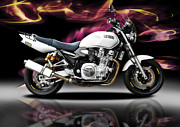 Motorcycle Photos - Yamaha by Carl Shellis