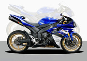 Motorcycle Photos - Yamaha R1 by Carl Shellis