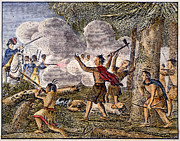 Colonist Posters - Yamasee War, 1715 Poster by Granger