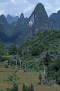 Autonomous Prints - Yangdi Valley Farm Fields, Guilin Print by Raymond Gehman