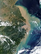 Chang Framed Prints - Yangtze Delta Framed Print by NASA / Science Source