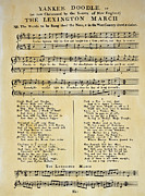 Sheet Framed Prints - Yankee Doodle Music, 1775 Framed Print by Granger