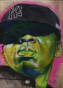 Jay Z Paintings - Yankee Fitted by Reuben Cheatem