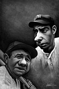 Hall Of Fame Digital Art - Yankee Greats by Derek Wehrwein