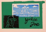 Lino Mixed Media Prints - Yankee Joe 2 Print by Joe Michelli