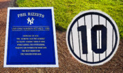 Baseball Field Digital Art Posters - Yankee Legends number 10 Poster by David Lee Thompson