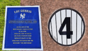 Baseball Field Digital Art Posters - Yankee Legends number 4 Poster by David Lee Thompson