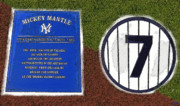 Baseball Art Digital Art - Yankee Legends number 7 by David Lee Thompson