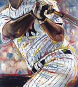 Baseball Painting Metal Prints - Yankee Metal Print by Redlime Art
