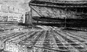 Babe Ruth Drawings Acrylic Prints - Yankee Stadium Acrylic Print by Chris Ripley