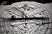 Famous Baseball Pictures Art - Yankee Stadium Concrete Eagle-Original Yankee Stadium by Ross Lewis