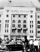 American Flag Prints - Yankee Stadium, Fans Arrive To Watch Print by Everett