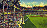 Historic Architecture Paintings - Yankee Stadium From Right Field 1937 by Dwight Goss