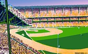 New York Stadiums Prints - Yankee Stadium In New York City Around 1950 Print by Dwight Goss