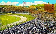 New York Stadiums Posters - Yankee Stadium In New York City In 1908 Poster by Dwight Goss
