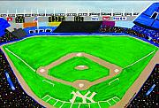 Yankee Paintings - Yankee Stadium by Jeff Caturano