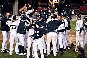 Jeter Photos - Yankees Celebrate by Andrew Kazmierski