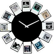 Yankees Mixed Media Prints - yankees Clock Print by Paul Van Scott