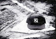 Baseball Art Digital Art - Yankees Home Greeting Card by John Rizzuto
