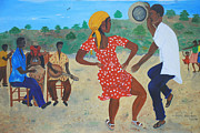 Haitian Paintings - Yanvalou by Nicole Jean-Louis