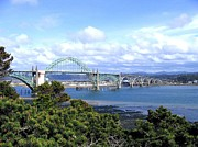 Interesting Clouds Framed Prints - Yaquina Bay Bridge Framed Print by Will Borden