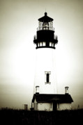 Ghostly Metal Prints - Yaquina Head Light - Haunted Oregon Lighthouse Metal Print by Christine Till