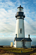 Oregon Coast Prints - Yaquina Head Lighthouse Print by Becky Thompson
