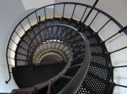 Yaquina Head Lighthouse Photos - Yaquina Lighthouse Stairway Nautilus - Oregon State Coast by Daniel Hagerman