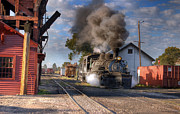 Steam Train Prints Art - Yard Dog at Work by Ken Smith