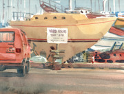 Yacht Paintings - Yard Hours by Donald Maier