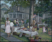 Catonsville Prints - Yard Sale Print by Edward Williams