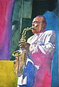 Saxaphone Prints - Yardbird Parker Print by David Lloyd Glover