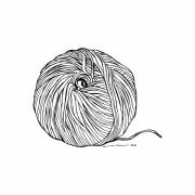 Object Drawings - Yarn Ball by Karl Addison