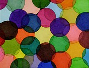 Overlapping Circles Metal Prints - Yarn III Metal Print by Lesa Weller