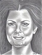 Flyers Drawings - Yasmine Bleeth by Rick Hill