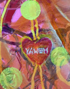 Jesus Writing Posters - Yaweh Detail 2 from Theology of the Body Poster by Anne Cameron Cutri