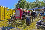 Tractor Trailer Digital Art Prints - Ye Old Tractor Print by Christopher Kelly