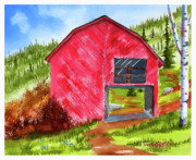 Watercolors - Ye Olde Barn by Rich Stedman