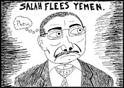 Jokes Drawings Originals - Yeah man Yemen by Yasha Harari