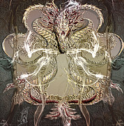Year Of The Dragon 2 Print by Rosy Hall