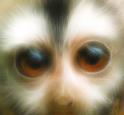 Huge Digital Art Prints - Year of the Monkey Print by Rosy Hall