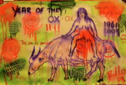 Rides Drawings - Year of the Ox by Bill OLeary