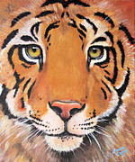 Noah Painting Framed Prints - Year of the Tiger Framed Print by Laura Carey