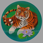 Year Of The Tiger Print by Marcia  Perry