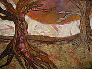 Roots Tapestries - Textiles Posters - Yearning Poster by Doria Goocher
