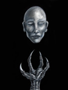 Human Head Mixed Media - Yearning for Truth by Michael Cook