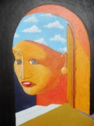 Double Image Paintings - Yella and The Golden Orb by David G Wilson