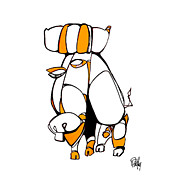 Aboriginal Art Digital Art - Yello Bull by Dan Daulby
