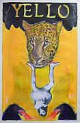 Jaguar Pastels Posters - Yello Poster by Mike  Mitch